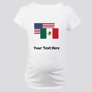 American And Mexican Flag Maternity T-Shirt