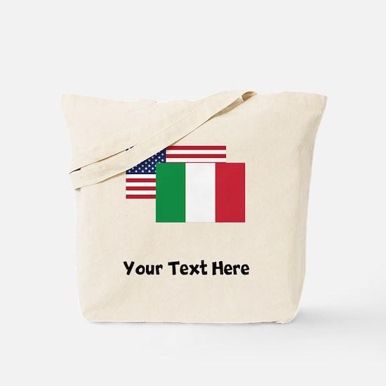 American And Italian Flag Tote Bag