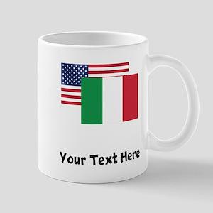 American And Italian Flag Mugs