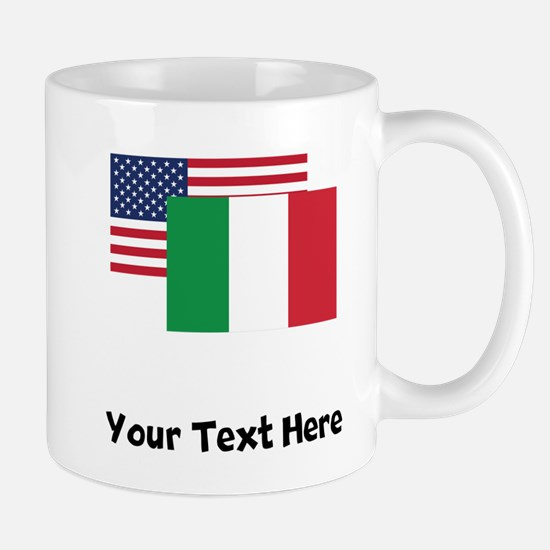 American And Italian Flag Mugs