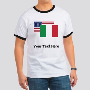 American And Italian Flag T-Shirt