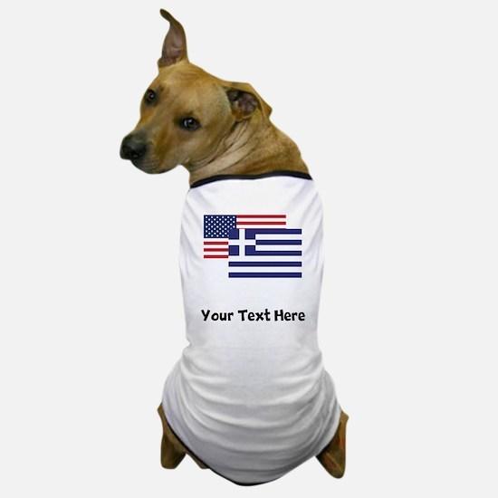 American And Greek Flag Dog T-Shirt