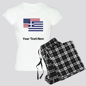 American And Greek Flag Pajamas