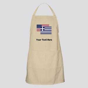 American And Greek Flag Apron