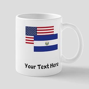American And El Salvadorian Flag Mugs