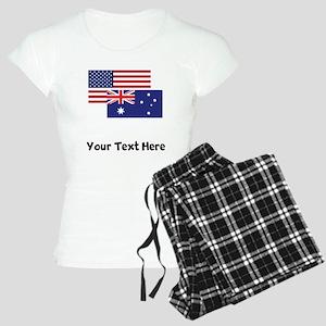 American And Australian Flag Pajamas