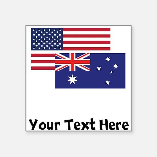 American And Australian Flag Sticker