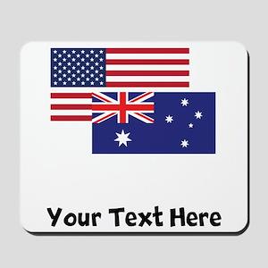 American And Australian Flag Mousepad
