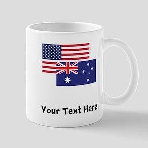American And Australian Flag Mugs