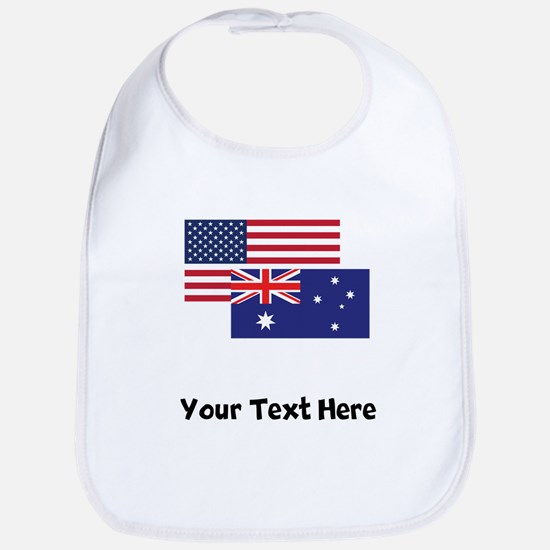 American And Australian Flag Bib