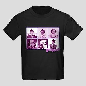 The Little Rascals Group Design Kids Dark T-Shirt