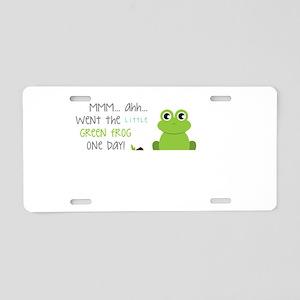 Little Green Frog Aluminum License Plate