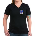 Rickey Women's V-Neck Dark T-Shirt