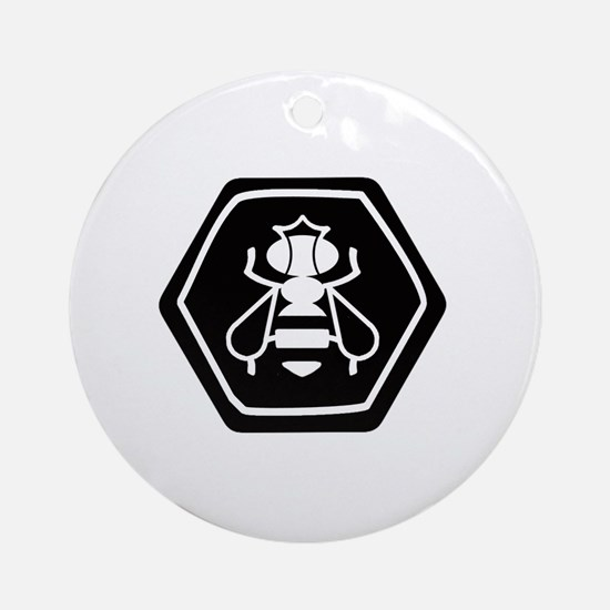 Cute Queen bee Round Ornament