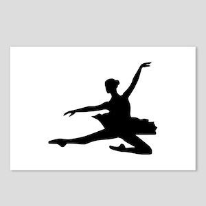Ballet dancing girl Postcards (Package of 8)