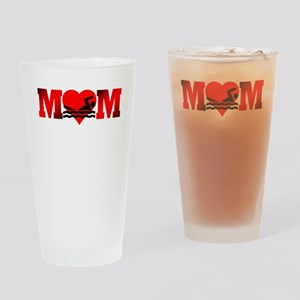 Swimming Mom Drinking Glass