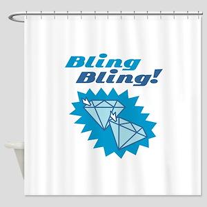 Bling Bling Diamonds Shower Curtain