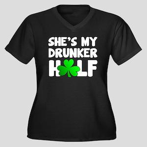 She's My Drunker Half Plus Size T-Shirt
