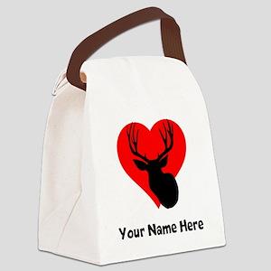Custom Hunting Heart Canvas Lunch Bag