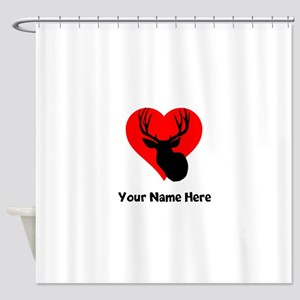 Custom Hunting Heart Shower Curtain