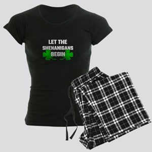 Let The Shananigans Begin Women's Dark Pajamas