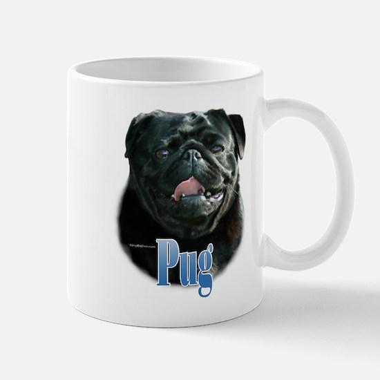 Pug(black)Name Mug