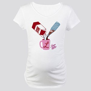 Laverne and Shirley: Milk and Pe Maternity T-Shirt