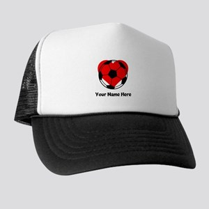 Custom Soccer Heart Trucker Hat