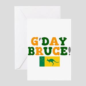 Australia cricket greeting cards cafepress gday bruce australia greeting cards m4hsunfo
