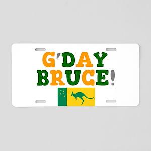 G'DAY BRUCE - AUSTRALIA! Aluminum License Plate