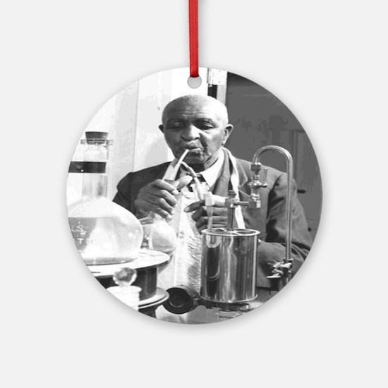 George Washington Carver Round Ornament
