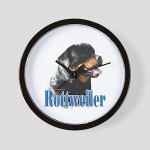 Rottweiler Name Wall Clock