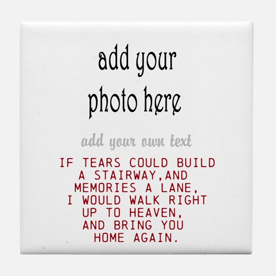 In Memory Of Personalize Tile Coaster