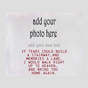 In memory of Personalize Throw Blanket