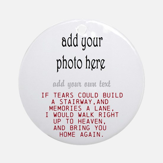 In Memory Of Personalize Round Ornament