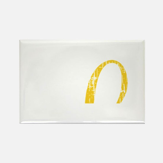 Laverne and Shirley Yellow Logo Rectangle Magnet