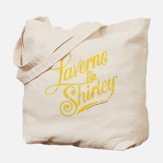 Laverne and Shirley Yellow Logo Tote Bag