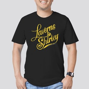 Laverne and Shirley Ye Men's Fitted T-Shirt (dark)