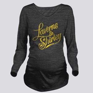 Laverne and Shirley Long Sleeve Maternity T-Shirt
