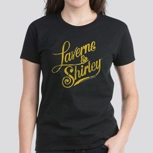 Laverne and Shirley Yellow Lo Women's Dark T-Shirt