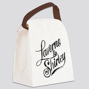 Laverne and Shirley Logo Black Canvas Lunch Bag