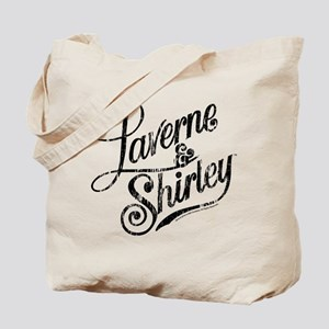 Laverne and Shirley Logo Black Tote Bag
