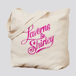 Laverne and Shirley Pink Logo Tote Bag