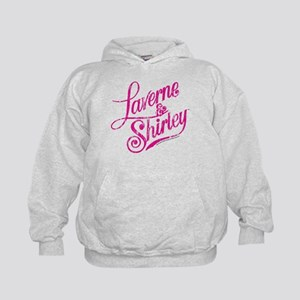 Laverne and Shirley Pink Logo Kids Hoodie