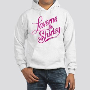 Laverne and Shirley Pink Logo Hooded Sweatshirt