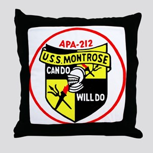 USS Montrose (APA 212) Throw Pillow