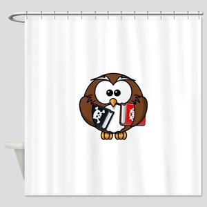 Studious Owl Shower Curtain