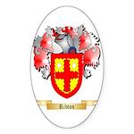Ribton Sticker (Oval 50 pk)