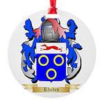 Rhodes Round Ornament