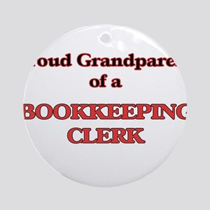 Proud Grandparent of a Bookkeeping Round Ornament